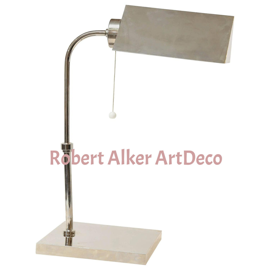 Art Deco French Chrome Desk Lamp