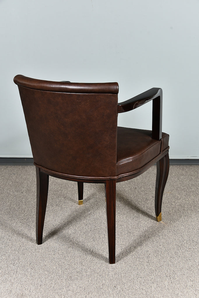 Art Deco Hungarian Office Chair in Walnut