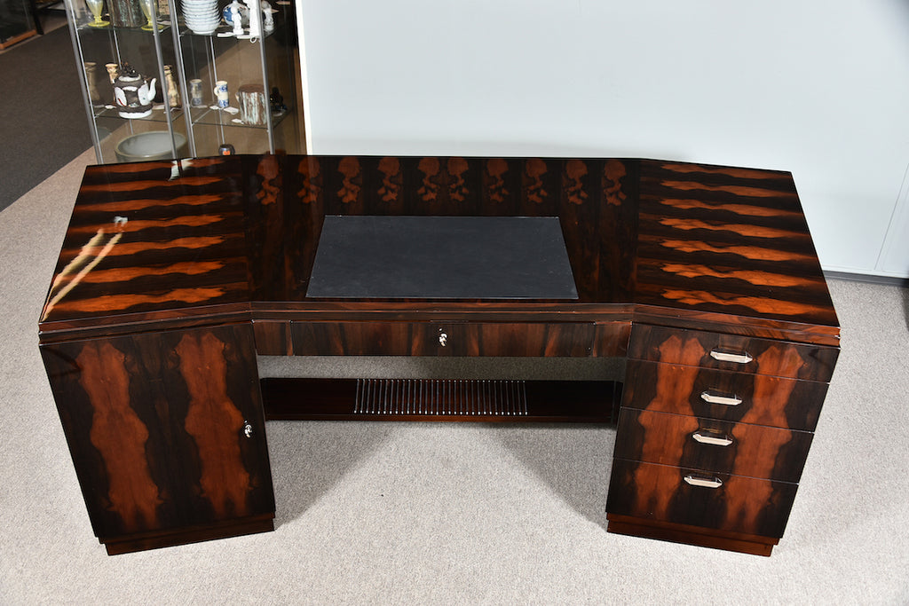 Grand Art Deco Desk in Walnut  from France