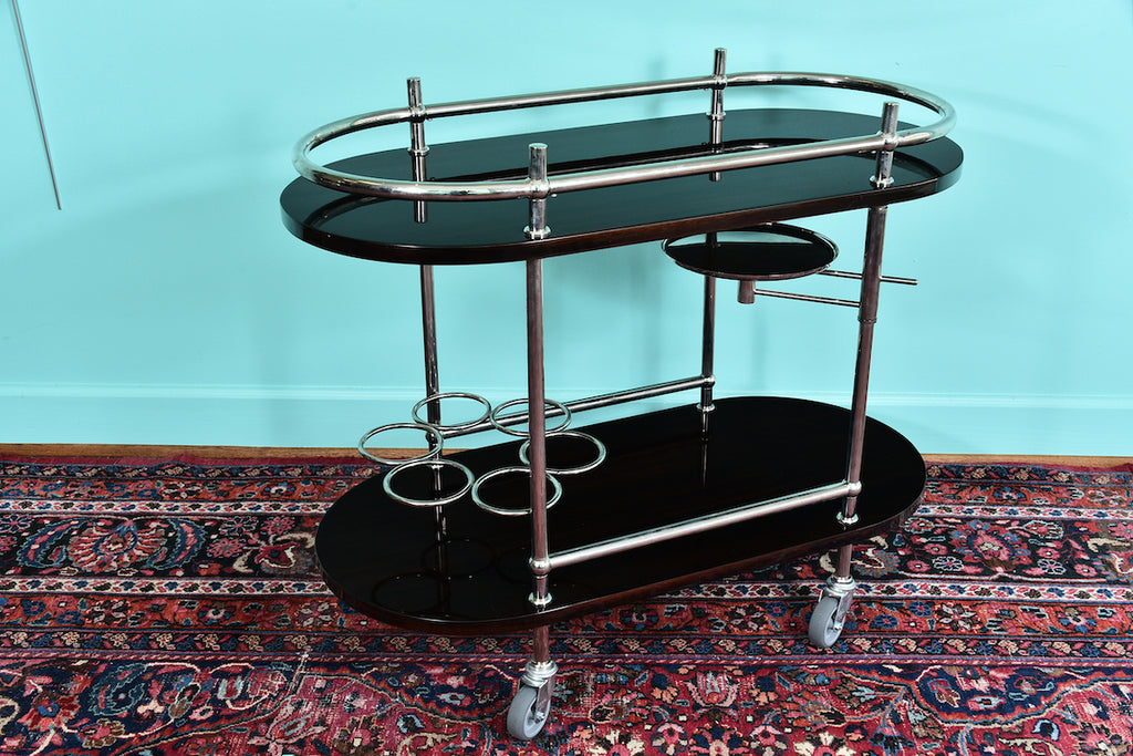 French Mid-century bar Cart or Serving Cart in Palisander