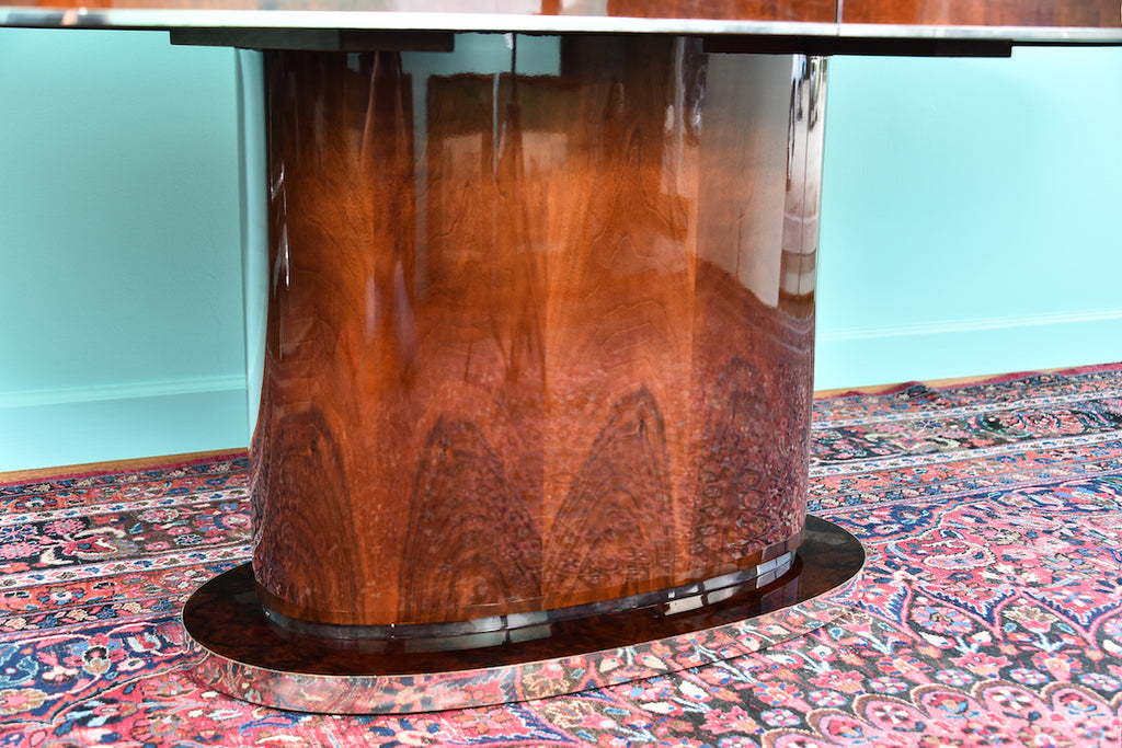 Hungarian Dining Room Table in Walnut, Art Deco Period