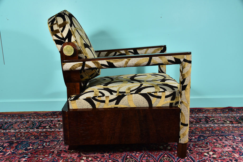 Pair of Hungarian Arm Chairs in Walnut