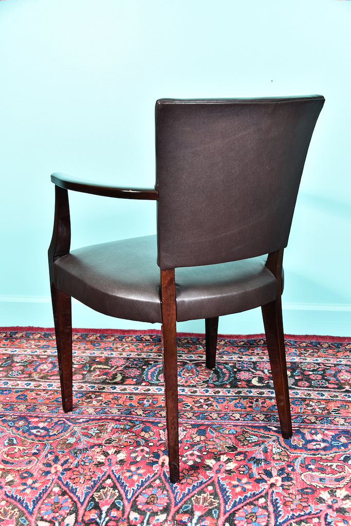 French Art Deco Office Chair in Walnut