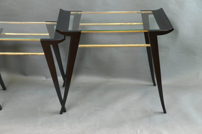 Set of Three Art Deco Tables