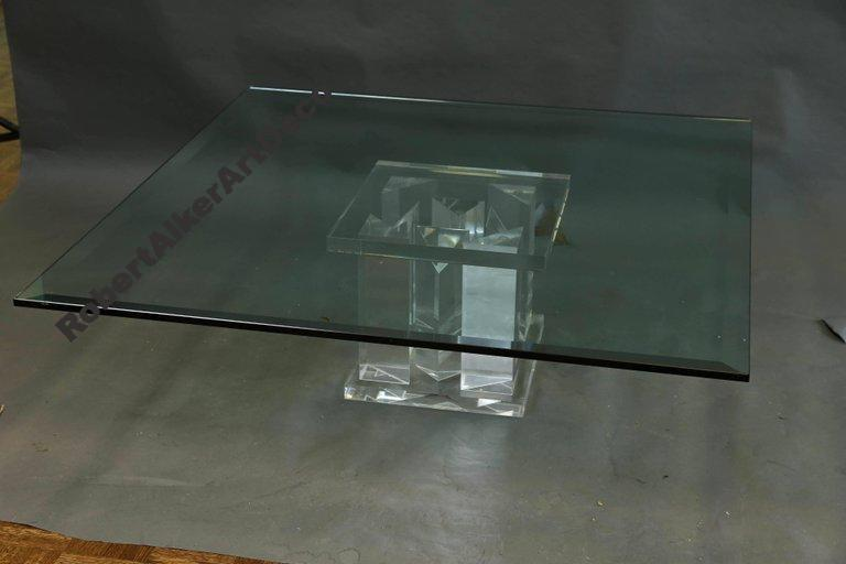 Mid-Century Italian Glass Coffee Table
