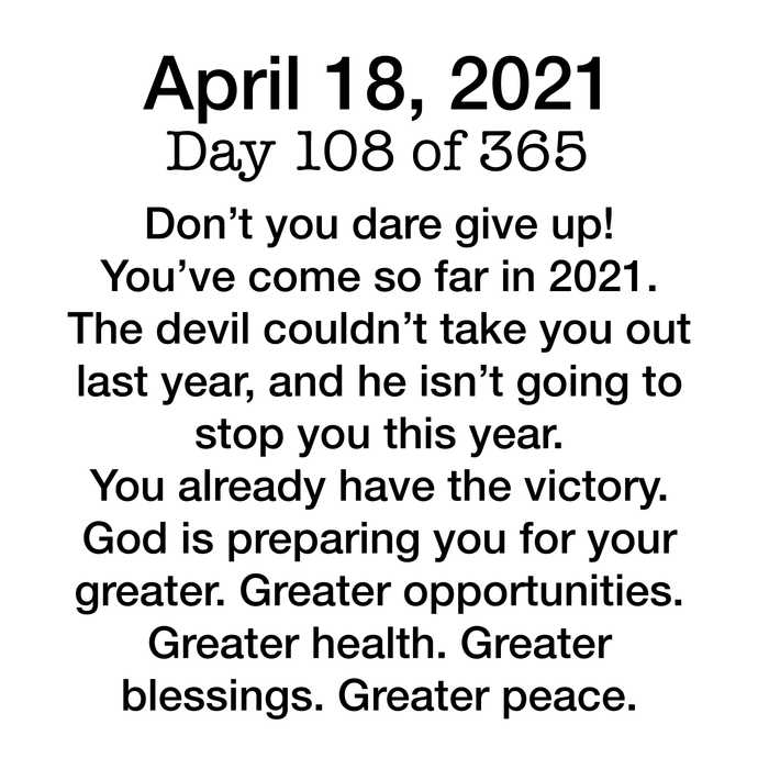Devotional Day 108