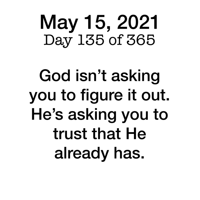 Devotional Day 135