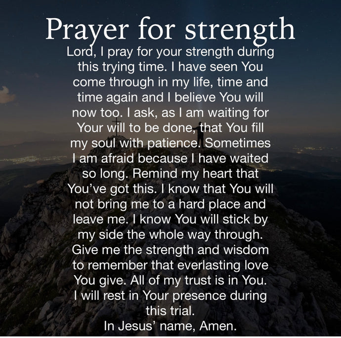 Strength Prayer