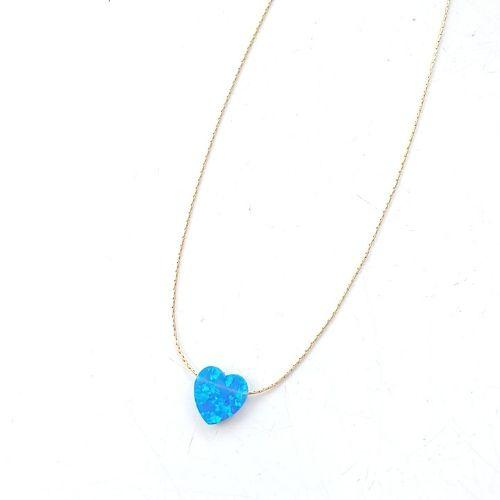 Gold necklace with opal stone