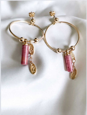 Rhotonite earrings