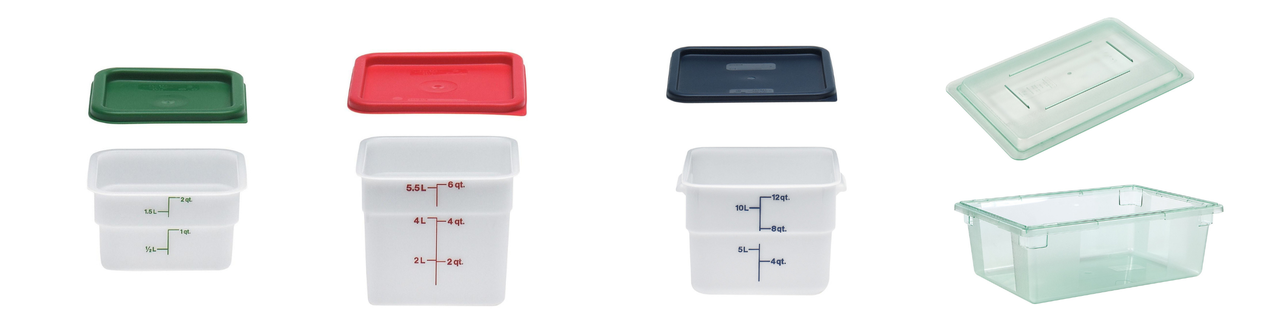 Colour coded food storage containers