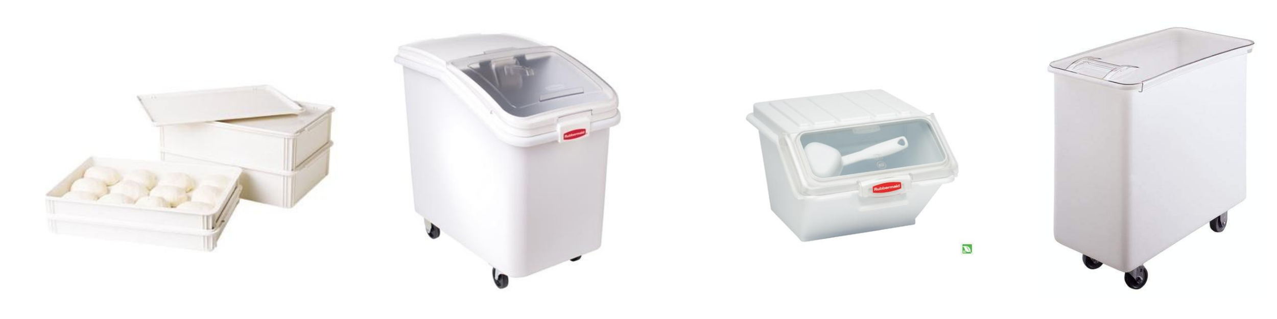 Dough boxes and ingredients bins