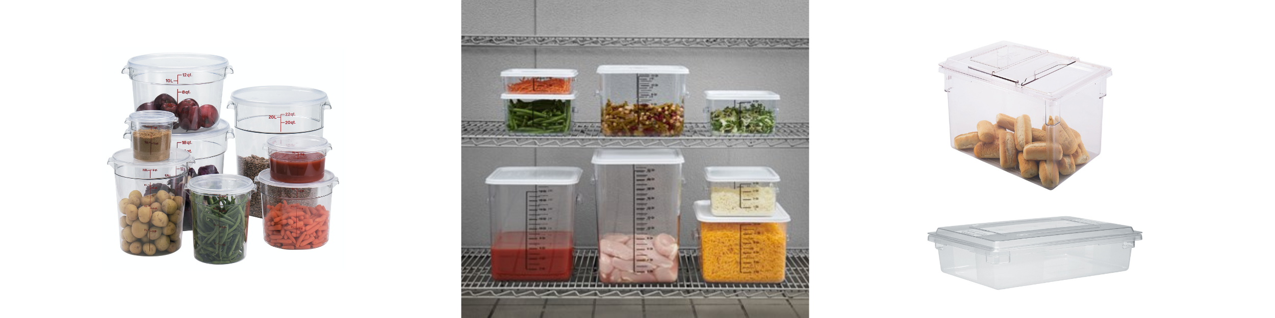 Shapes of food storage containers