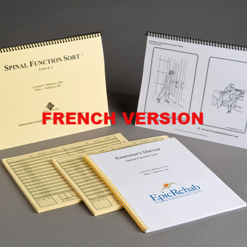 Spinal Function Sort Kit - FRENCH