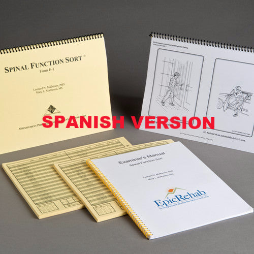 Spinal Function Sort Kit - SPANISH