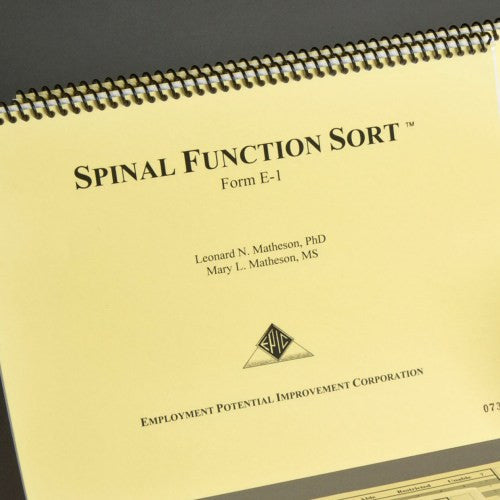 Spinal Function Sort Test Booklet