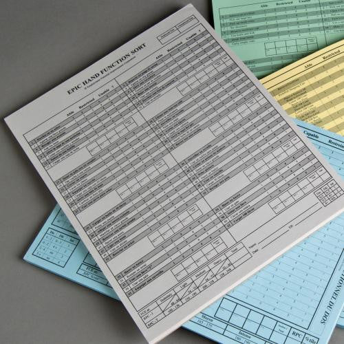 Hand Function Sort Replacement Answer Pads - SPANISH