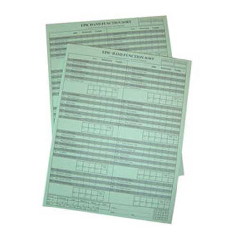 Hand Function Sort Replacement Answer Pads