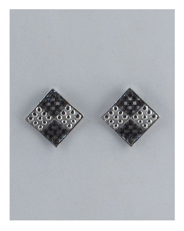 Four square diamond shape earrings - CYFASHION