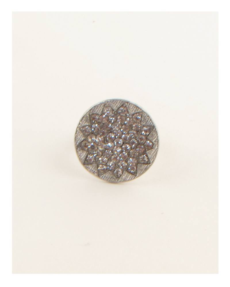 Circle w/ rhinestones adjustable ring - CYFASHION