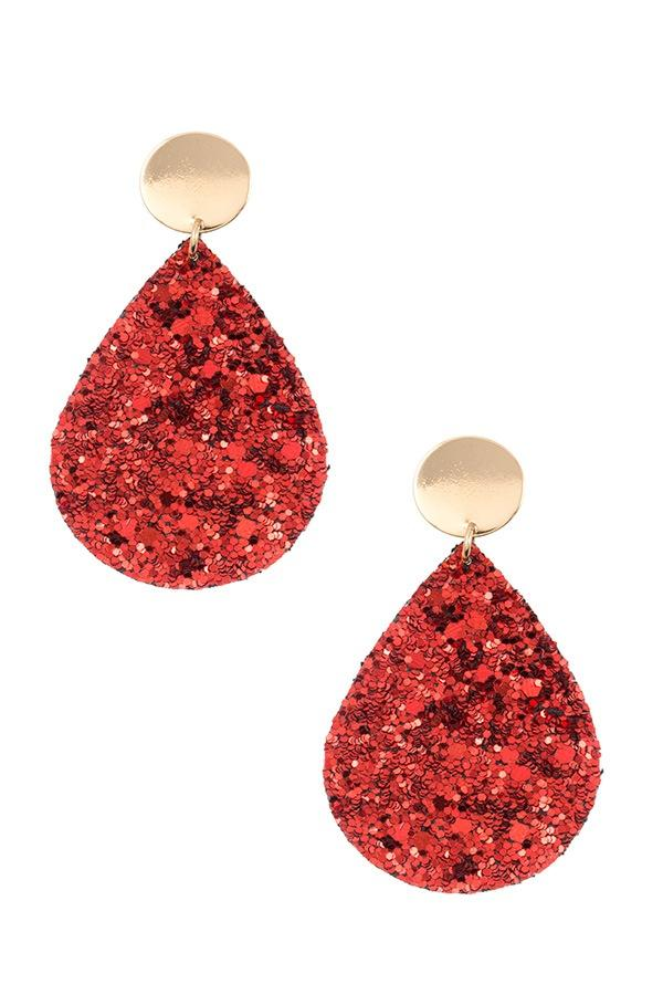 Sequin teardrop dangle earring - CYFASHION