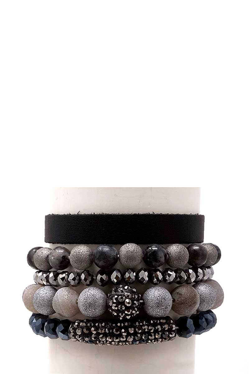 Semi Precious Stone Bracelet Set - CYFASHION