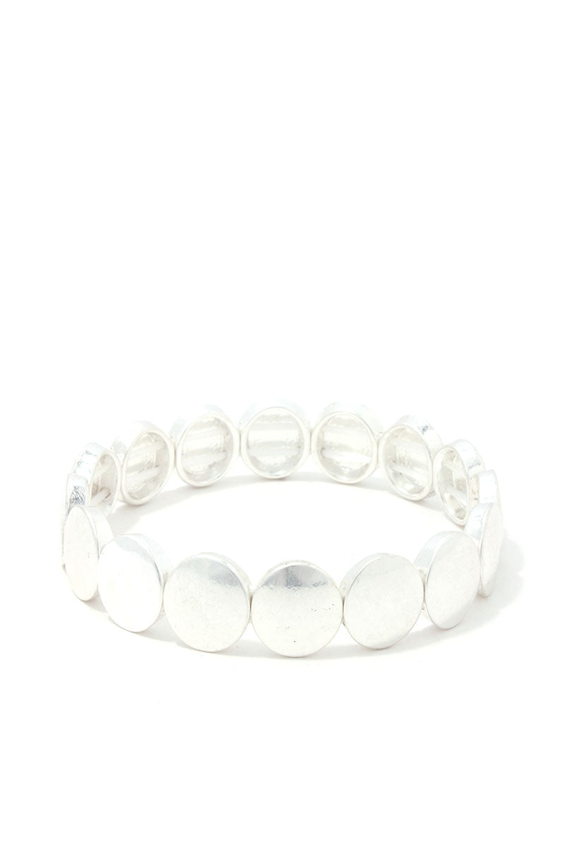 Round Metal Stretch Bracelet - CYFASHION