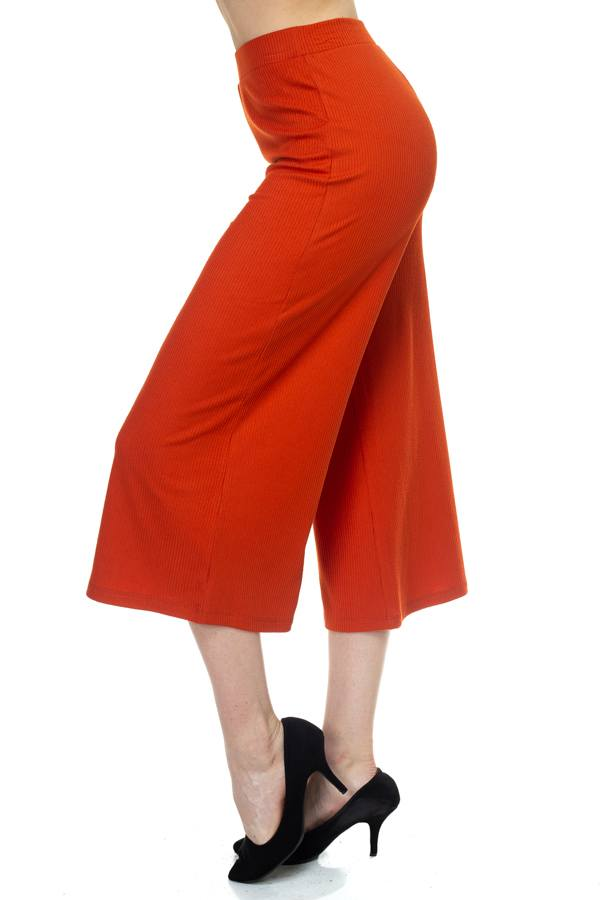 Solid Wide Leg Pants - CYFASHION