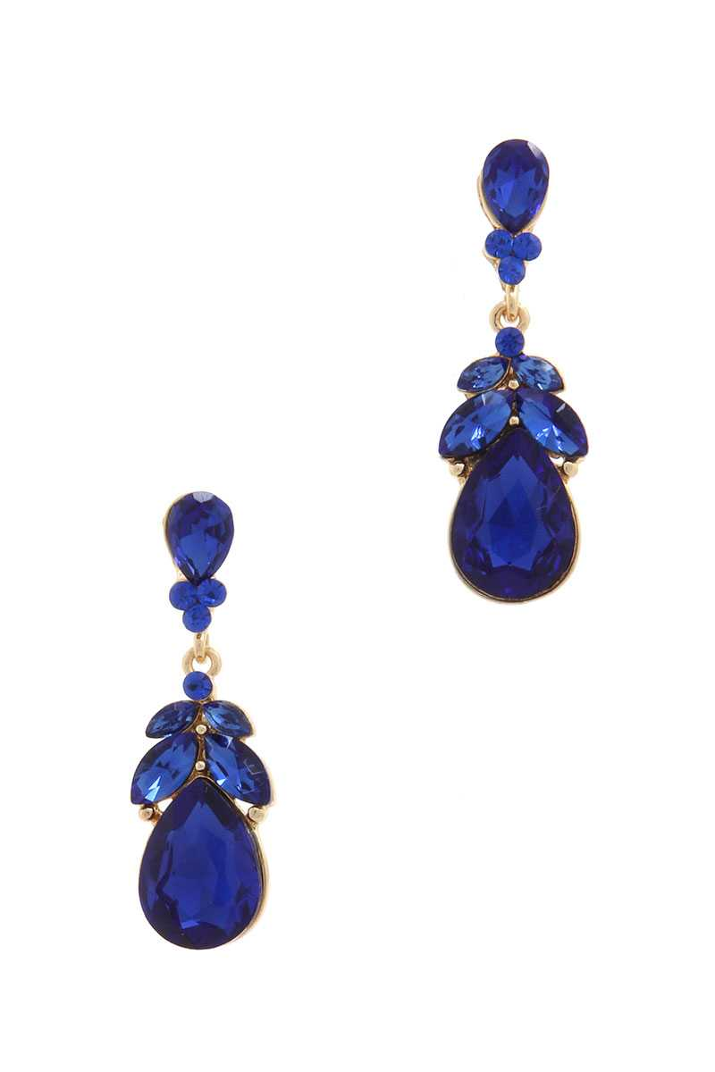 Rhinestone Post Drop Earring - CYFASHION