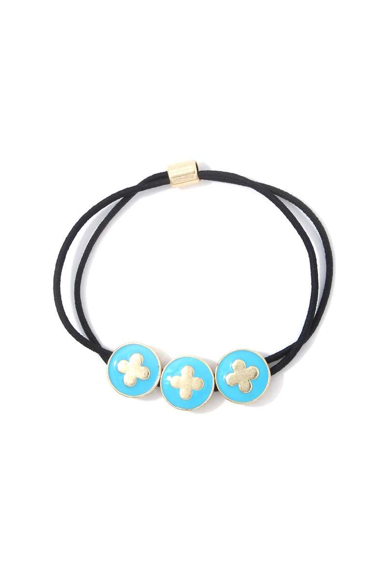 Moroccan Shape Circle Suede Bracelet - CYFASHION