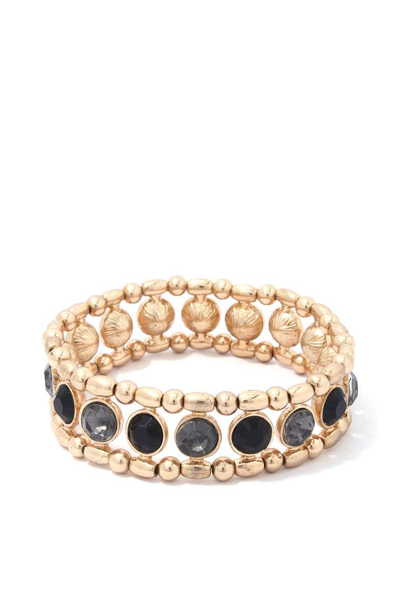 Rhinestone Stretch Bracelet - CYFASHION