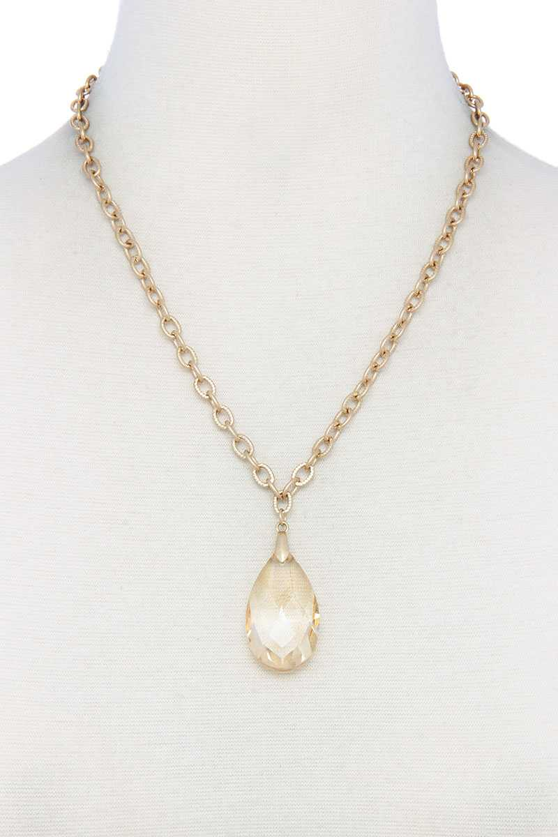 Teardrop Pendant Necklace - CYFASHION