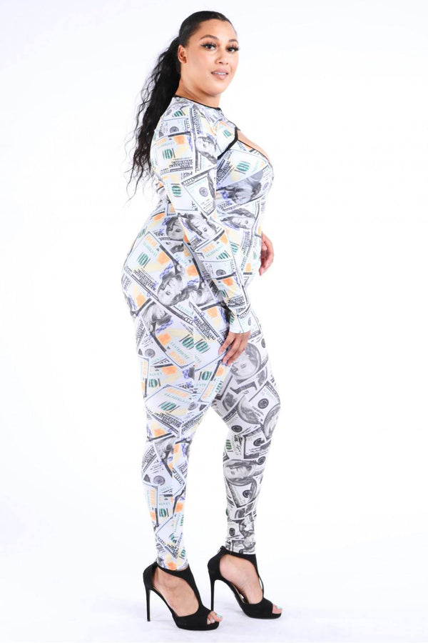 New Money Old Money Catsuit - CYFASHION