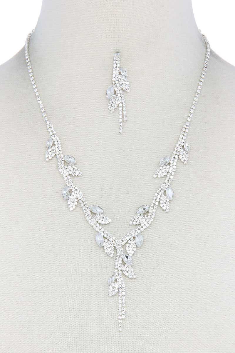 Rhinestone Necklace.