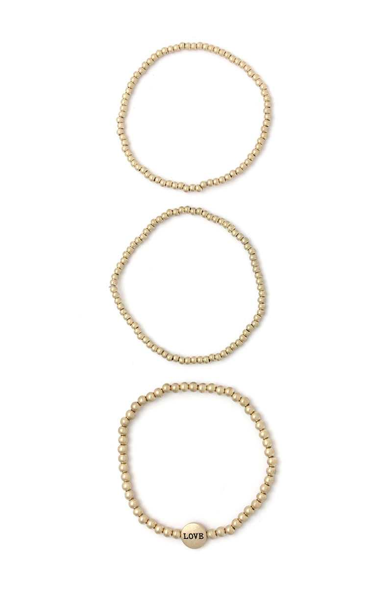 Love Beaded Stackable Bracelets - CYFASHION