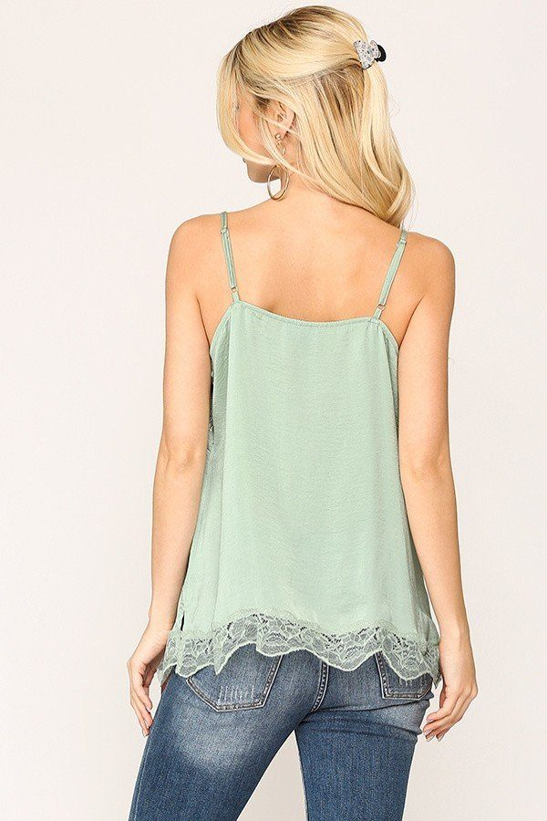 Sleek Satin Cami Top - CYFASHION