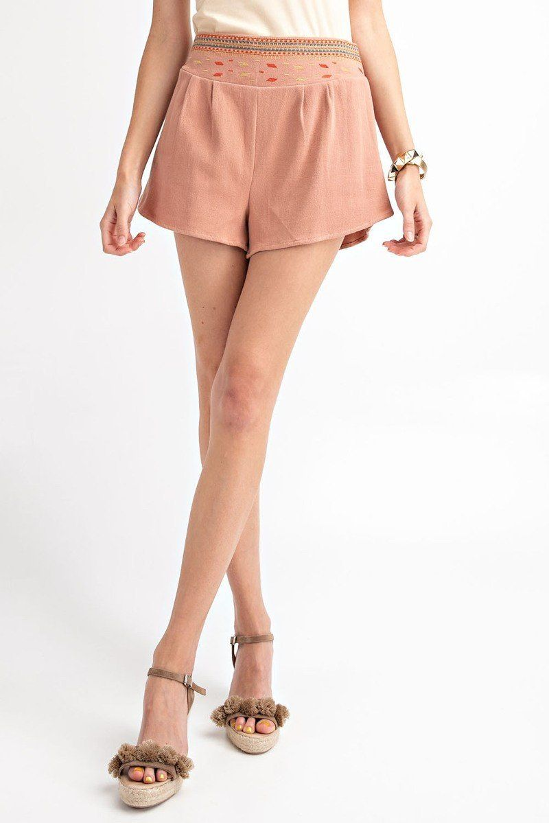 High Rise Waist Shorts - CYFASHION