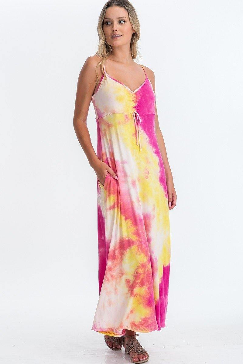 Tie Dye Maxi Dress - CYFASHION