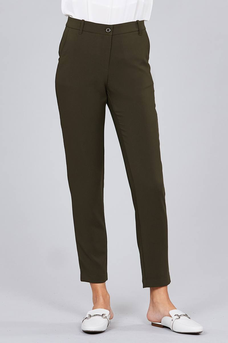 Seam Side Pocket Classic Long Pants - CYFASHION