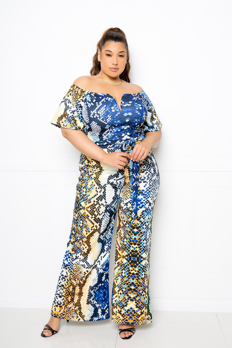 Multi Snake Jumpsuit - CYFASHION