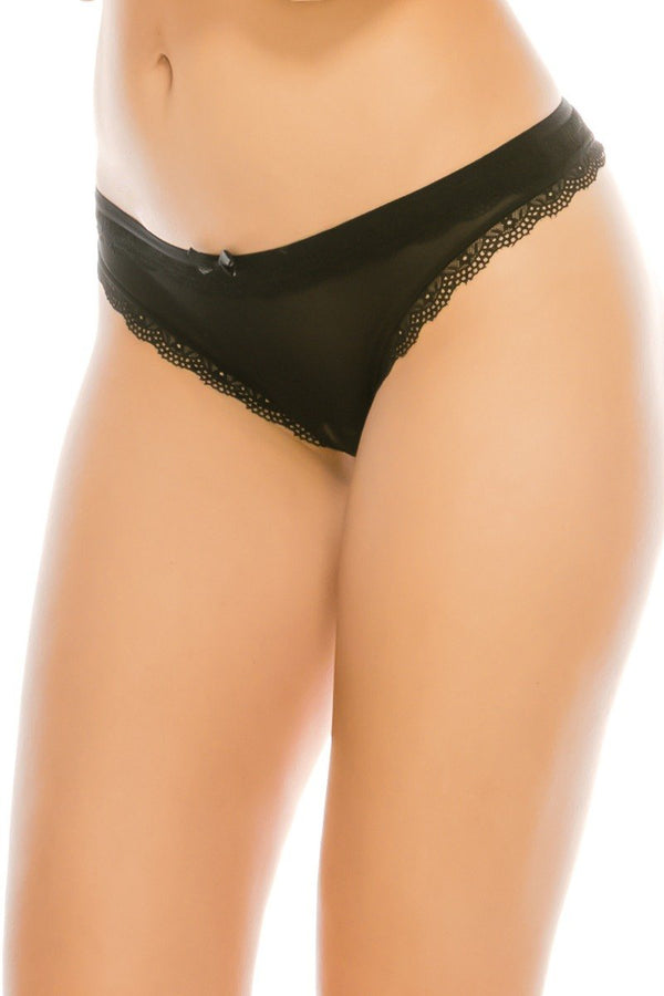 Lace & Mesh G-string Thong - CYFASHION