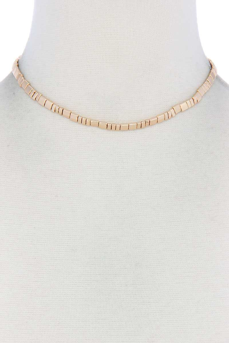 Metal Block Necklace - CYFASHION