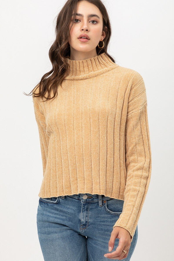 Mini Velvet Chenille Crop Sweater - CYFASHION