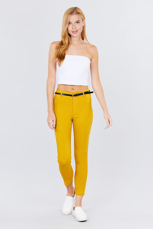 Bengaline Belted Pants - CYFASHION