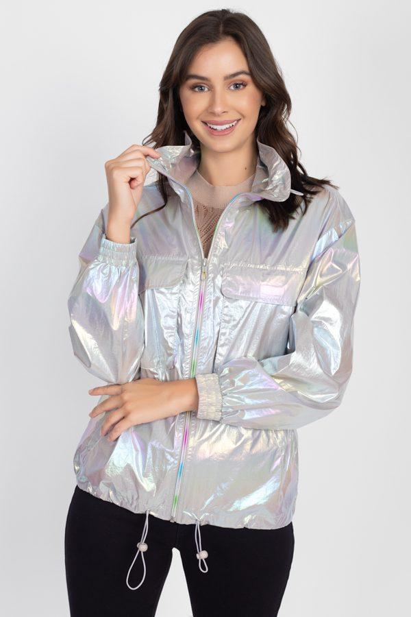 Holographic Windbreaker Jacket - CYFASHION