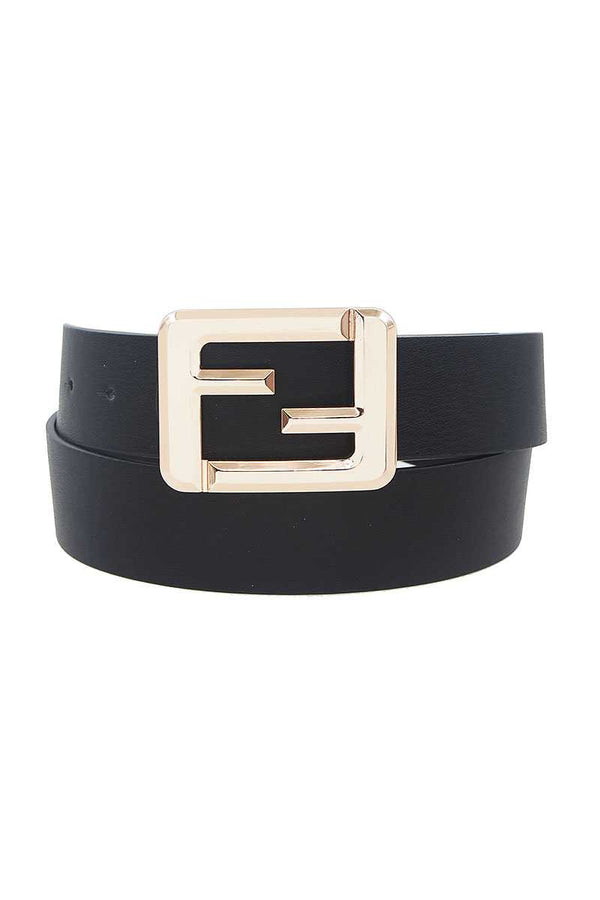 Fashion Square Letter Buckle Belt - CYFASHION