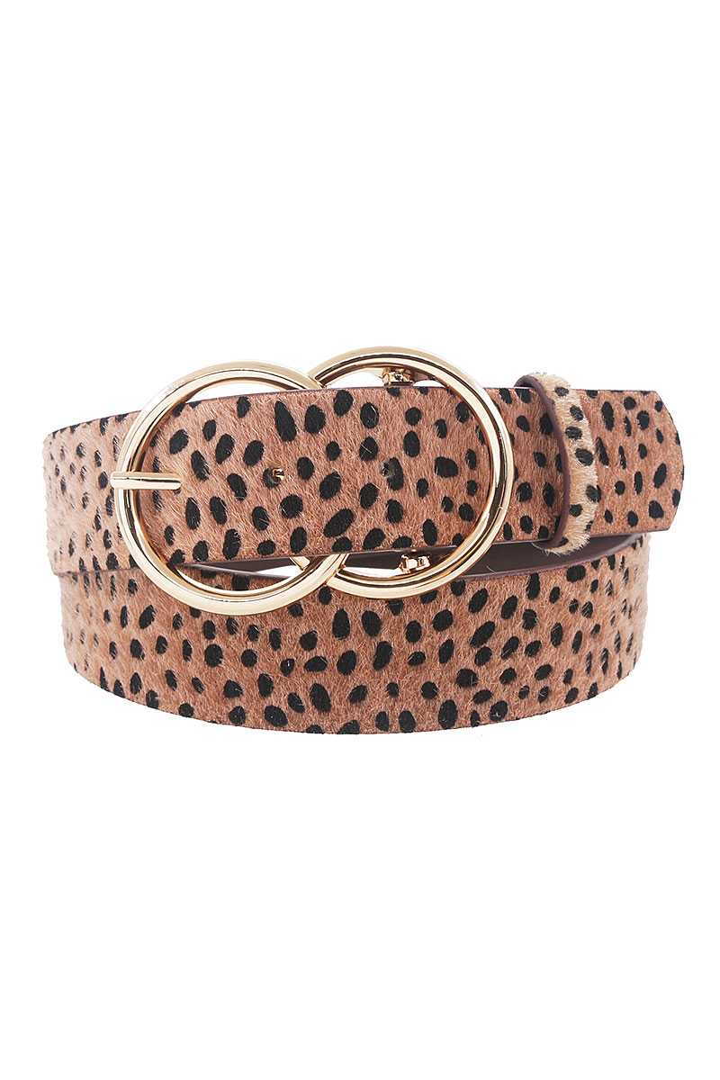 Stylish Cheetah Fur And Pattern Belt - CYFASHION