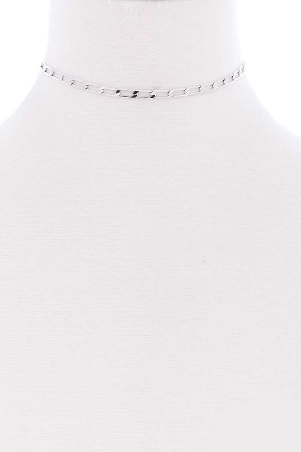 Metal Chain Link Choker Necklace - CYFASHION