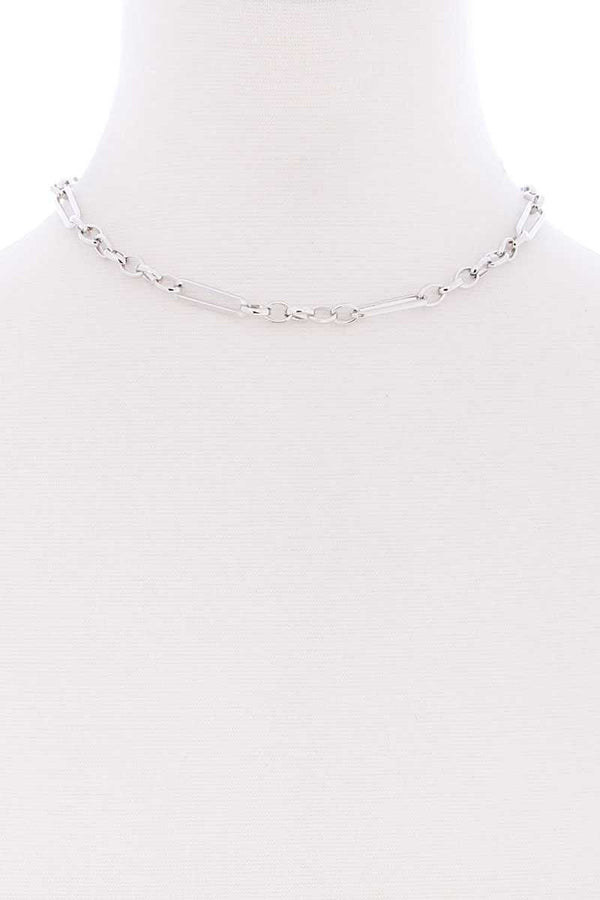 Metal Single Chain Short Necklace - CYFASHION