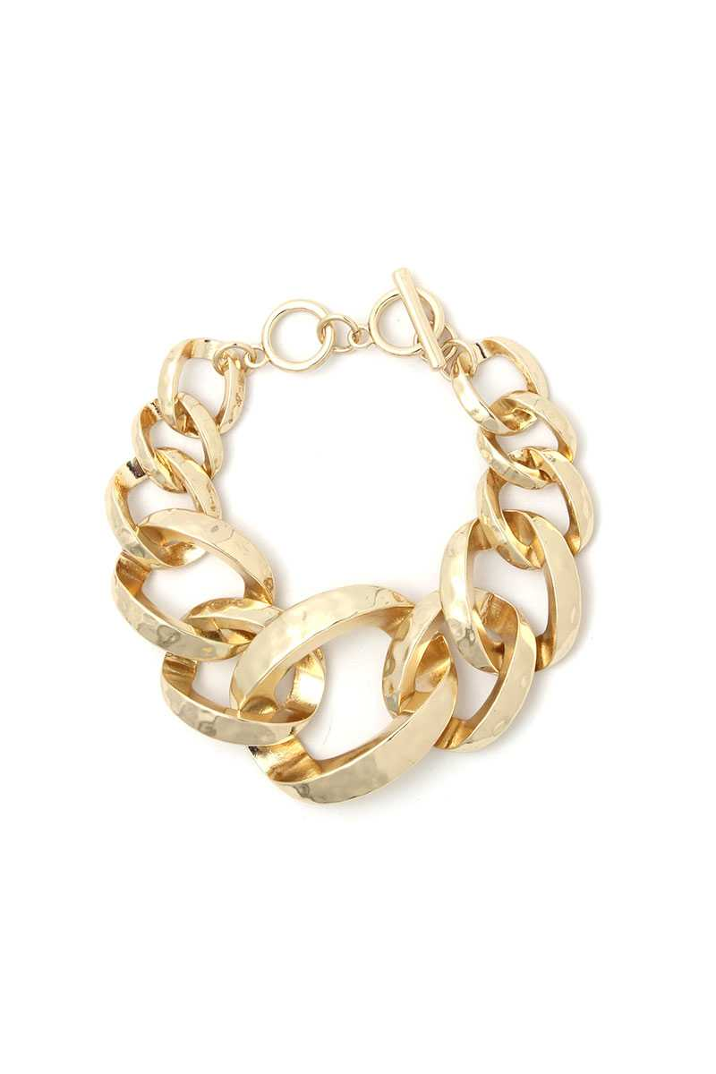 Wide Cuban Chain Bracelet - CYFASHION